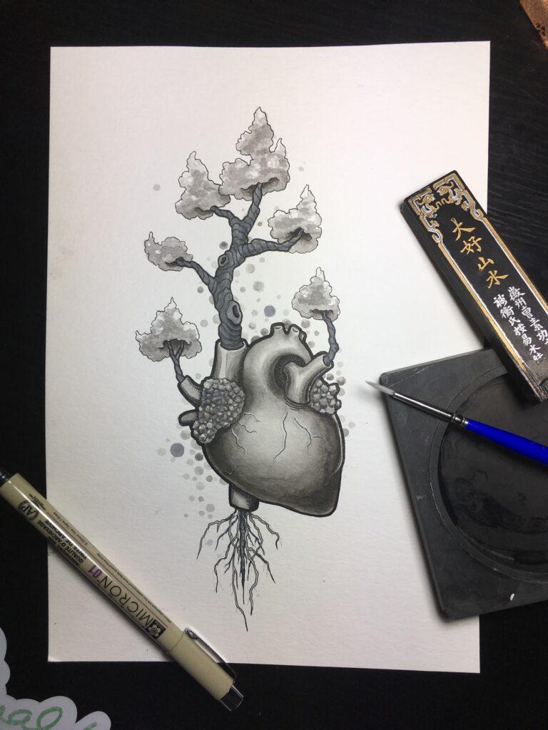 Heart Tree | Ink